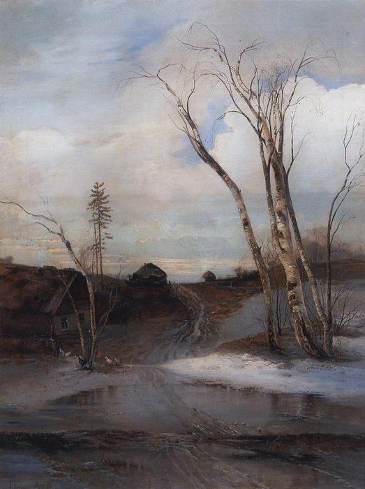 Spring (4), 1880 by Aleksey Savrasov (1830-1897, Russia)