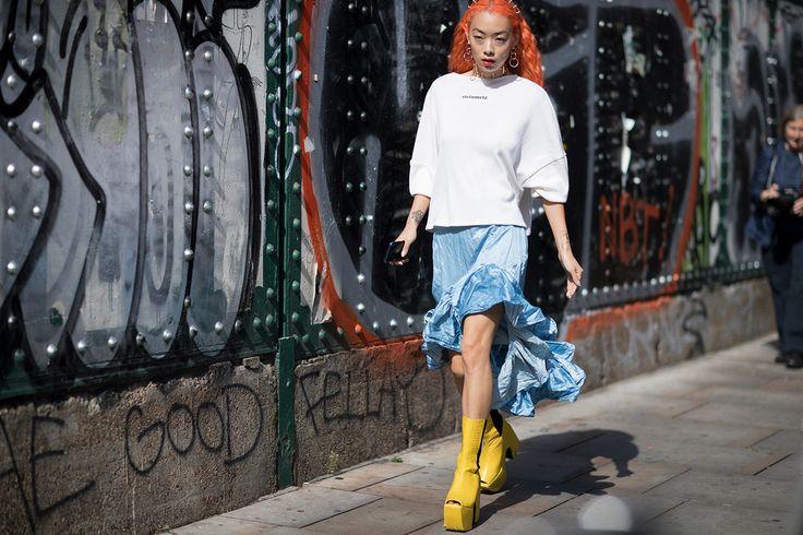 Photographer Eva Al Desnudo shoots London's most stylish at London Fashion Week Spring/Summer 18.