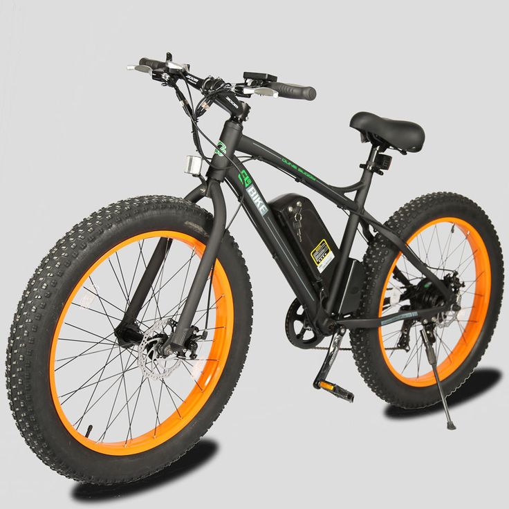 Electric Bicycles 74469: 36V 500W Black Ebike Orange Rims Fat Tire Ebike Electric Bike BUY IT NOW ONLY: $980.0