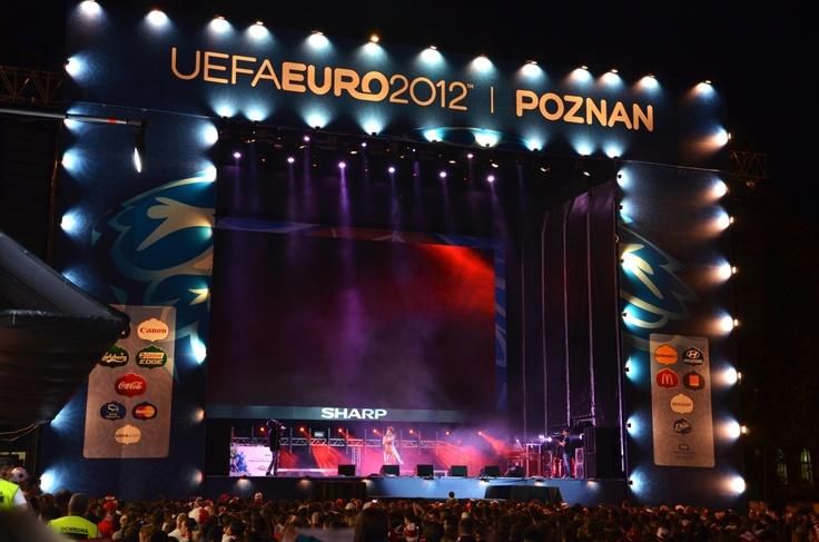 Poznan Poland, scena w Strefie Kibica UEFA EURO 2012 [fot.Grzegorz Babicz]