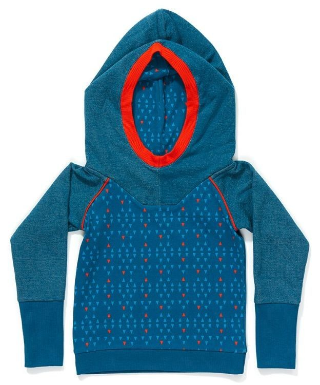 AlbaBabY Fidel hood blouse blue triangle