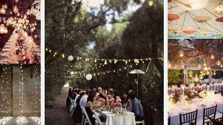 bombillas, guirnaldas, luces de verbena, iluminación bodas exterior, tendencias iluminación bodas, wedding planner Madrid, wedding planner Spain