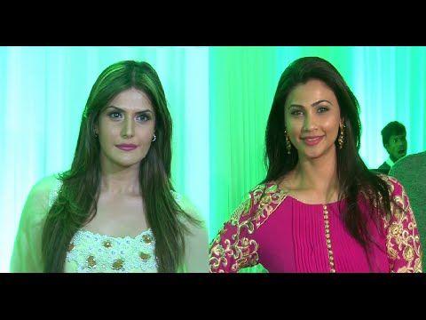 Zarine Khan & Daisy Shah at Baba & Zeeshan Siddique's Iftaar party.