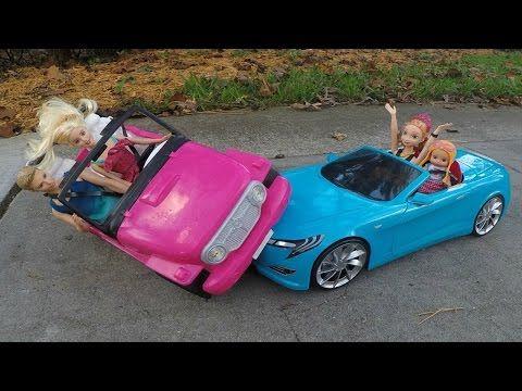 Frozen Anna deixa Gabriel Dirigir e Bate No Carro Da Barbie!!! Em Portugues Tototoykids - YouTube