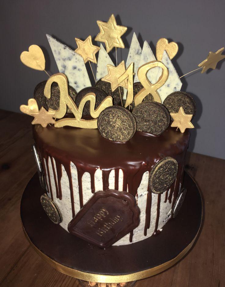 Cookies and Cream 18th Birthday Cake