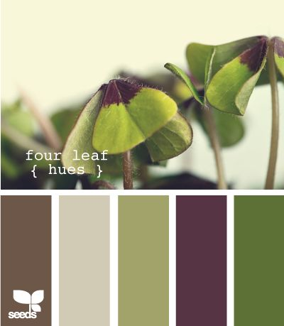 beautiful color, earthy glamour - four leaf hues: design seeds