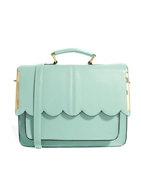 Image 1 of ASOS Satchel Bag With Scallop Bar Detail. May I please own this??!!!