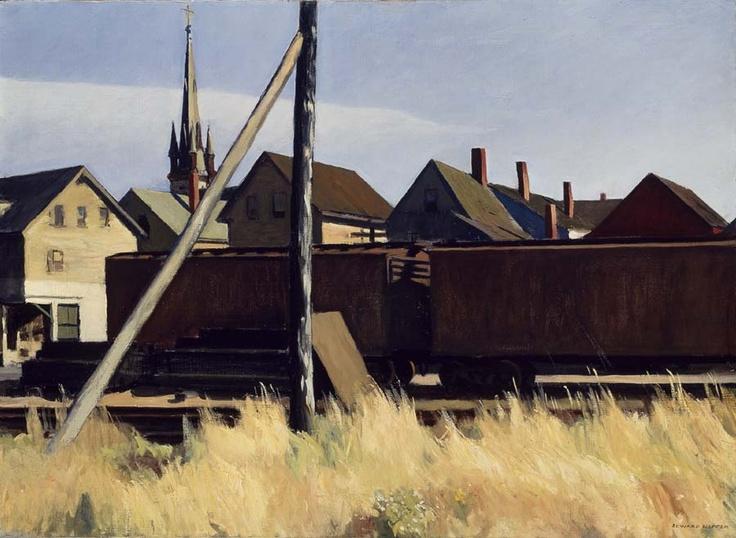 EdwardHopper, 1956 http://drawingowu.wordpress.com/2011/10/29/urban-visions-edward-hopper-and-charles-sheeler/1956-7/