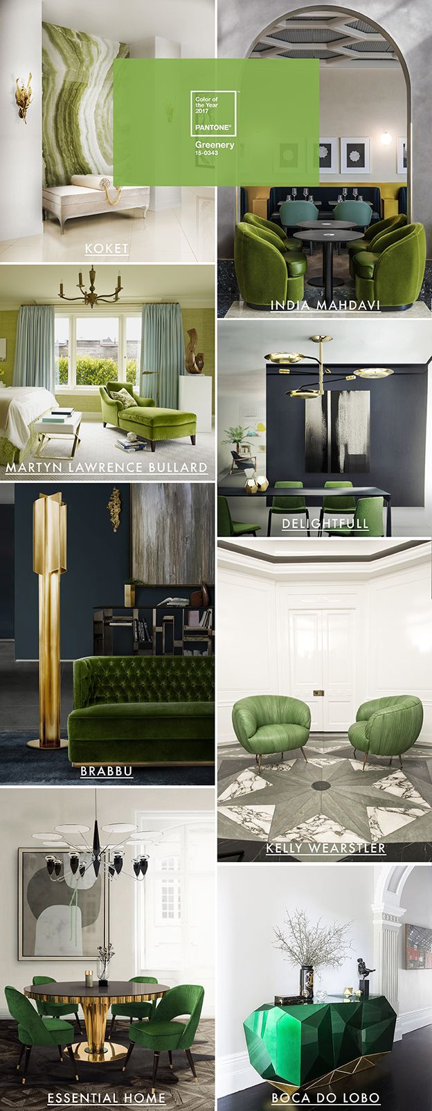 Pantone Color of the year 2017 Greenery | http://inspirationdesignbooks.com/infographic/