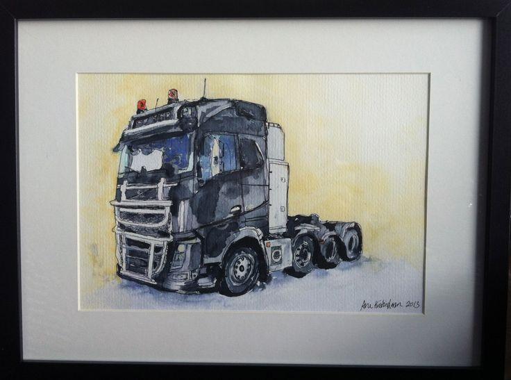 Akvarell painting new Volvo
