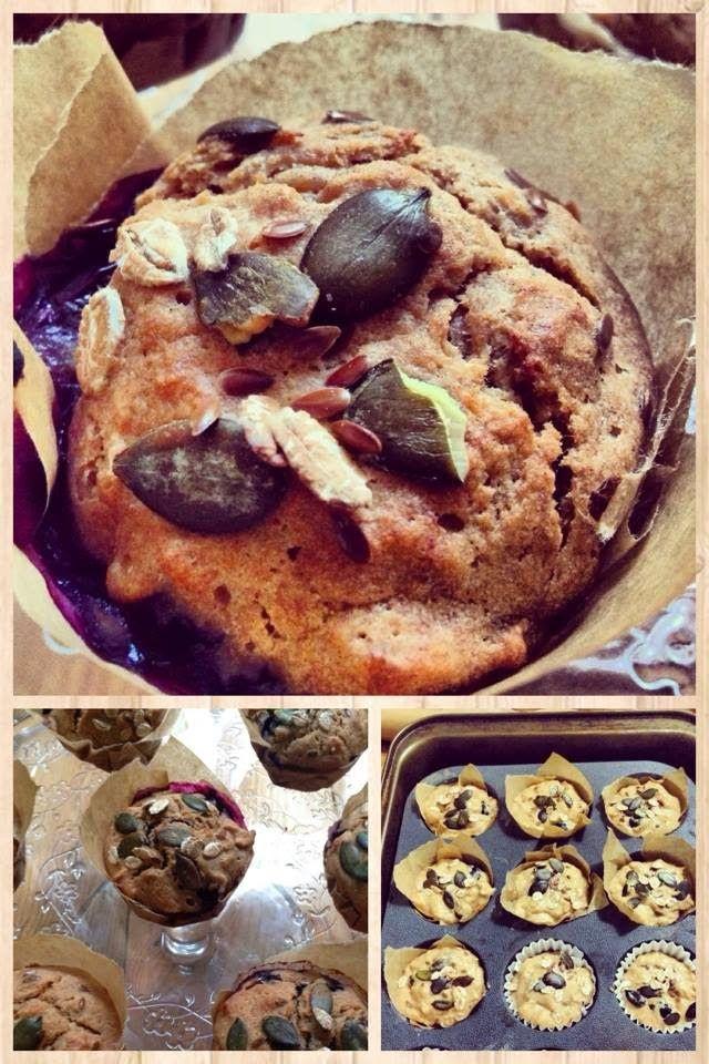 Celozrnné raňajkové muffiny bez cukru a predsa energia v hrsti   PeknePapaj