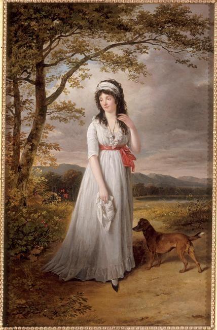 Portrait de Hortense de Beauharnais, épouse de Louis Bonaparte, roi de Hollande (mère de Napoléon III), attribué à Jacques Sablet (1749-1803)
