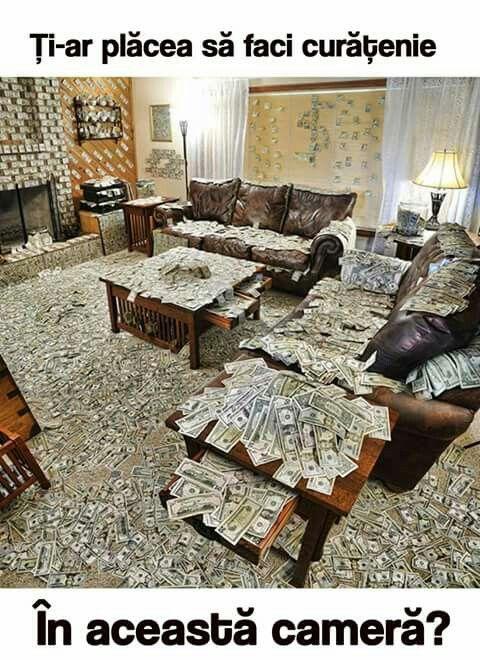 Cine nu vrea să facă curat în camera asta?!