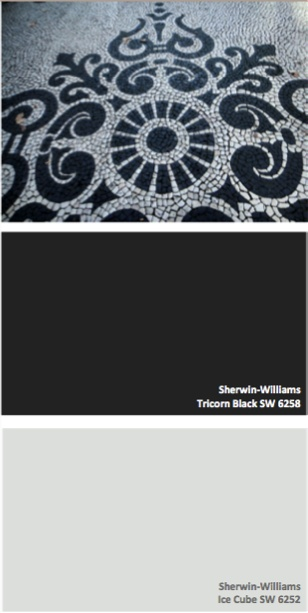 Sherwin Williams Tricorn Black Sw 6258 And Ice Cube Sw