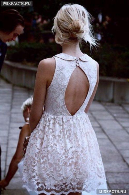 белые кружевные платья