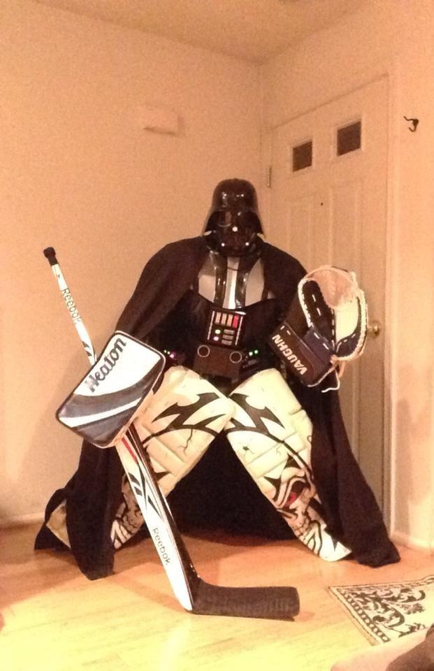 Darth Vader Hockey Goalie