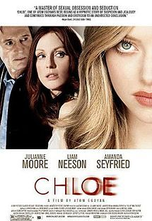"Do you trust your mate? How far will you go? Julianne Moore plays a wife who believes her husband (Liam Neeson), a teacher, is dating a student. She hires Chloe (Amanda Seyfried), a call girl, to test her spouse's fidelity. Directed by Atom Egoyan (""Where the Truth Lies""). Erin Cressida Wilson (""Fur"") adapts a French movie."