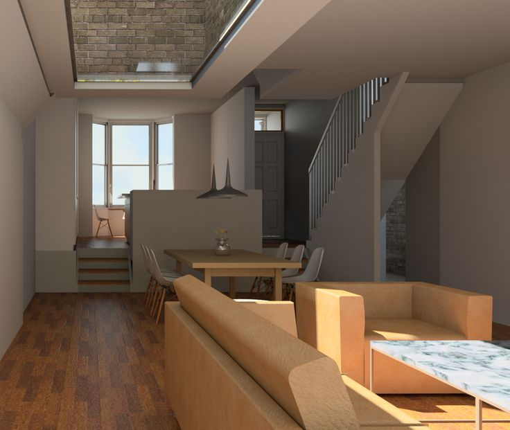 Melrose Gardens Reverse Living And Dining Room Render Revit By Shape Architecture