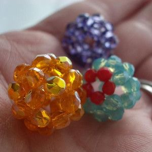 If you are looking to learn a new way to make DIY rings and earrings, then this Beadazzled DIY Rings or Earrings tutorial is just for you. This free DIY jewelry tutorial teaches you how to make a ring or pair of earrings using beads. The beads are woven together in a pattern so that the end result is an intricately designed ring or earring.