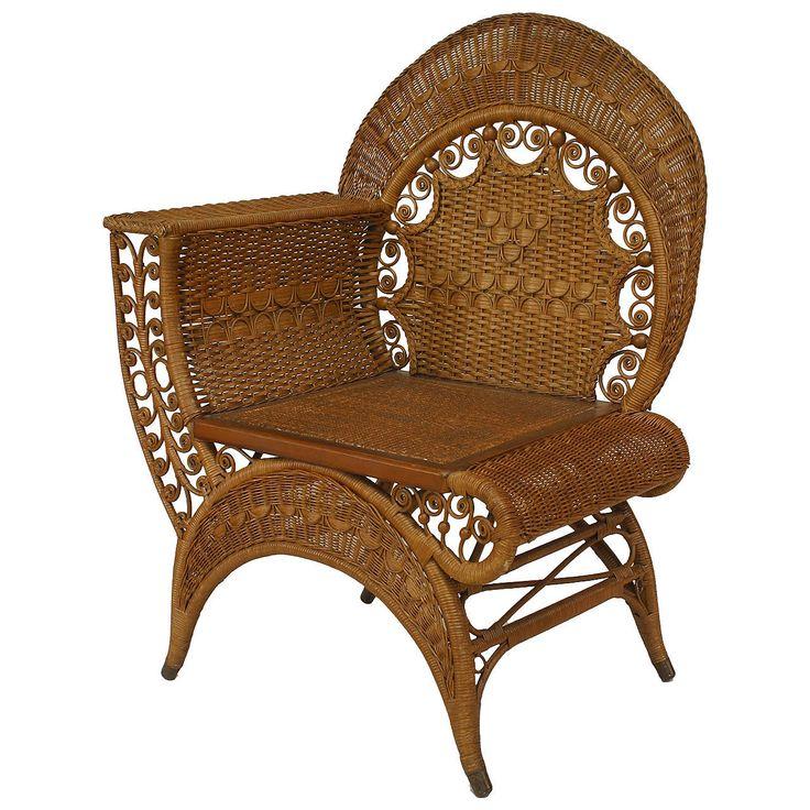 19th Century American Wicker Photographeru0027s Chair By Heywood Wakefield