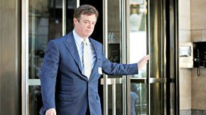 Mueller Hits Manafort, Gates With 12 Charges, Including Conspiracy Against the U.S.=Trump campaign chair surrenders at FBI's DC field office.