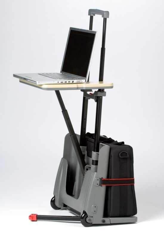 attractive portable stand up desk ideas with ac paddle black wooden computer station standing workstation images 17 best ideas about portable computer desk on 543