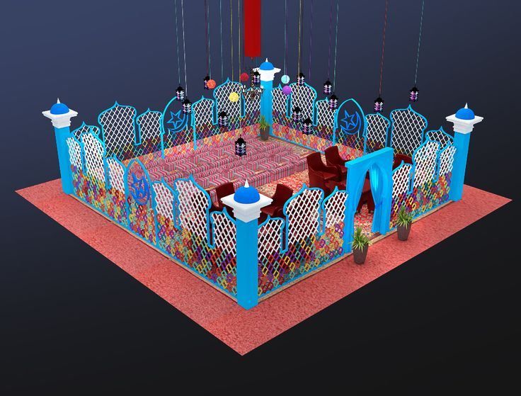 Moroccon style vip seating 3d model