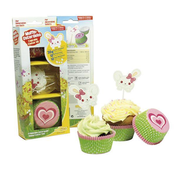 Wielkanocny zestaw dekoracyjny na muffiny - fantastyczny zestaw papilotek, pickerów i posypki - delikatny, subtelny, piękny:-)