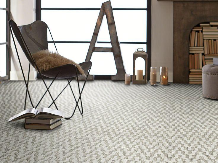 Patterned Chevron Carpet | White U0026 Gray | Home Office Inspiration | Bedroom  Inspiration | Rite