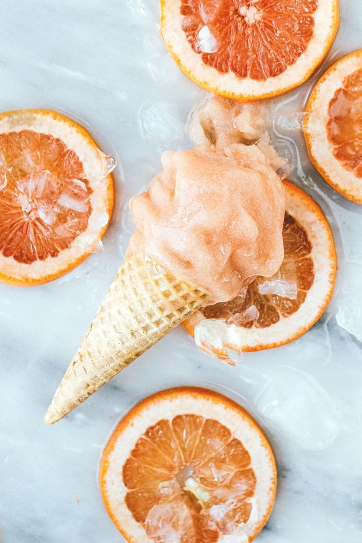 Grapefruit Guava and Rum Sorbet. Yummy boozy summer dessert! #Summer
