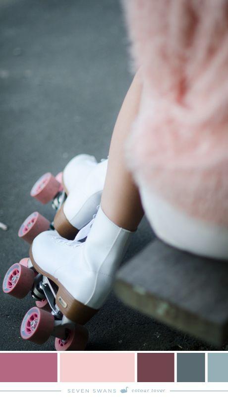 Rollerskate Love | Colour palette by Seven Swans