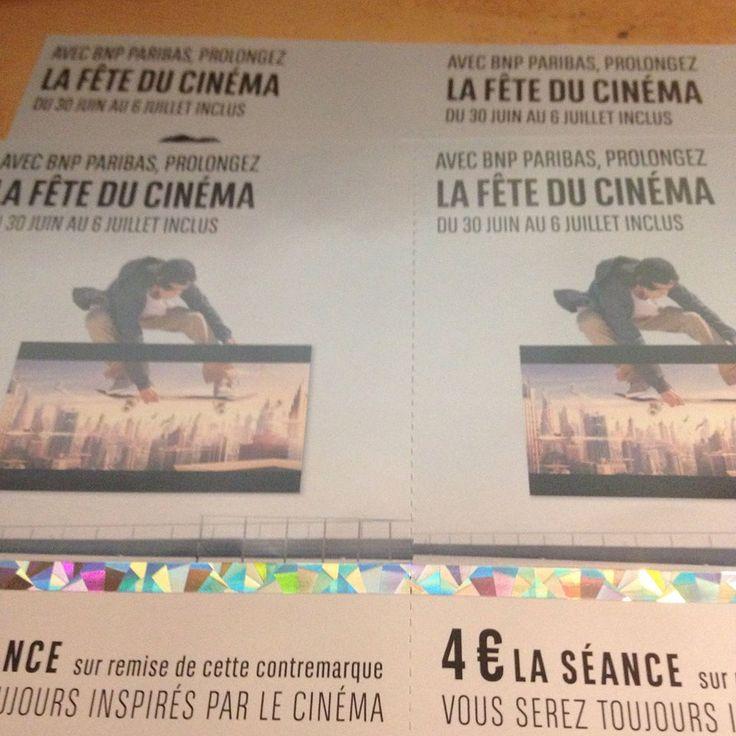 4 places à 4 € pour prolonger la fête du cinéma...