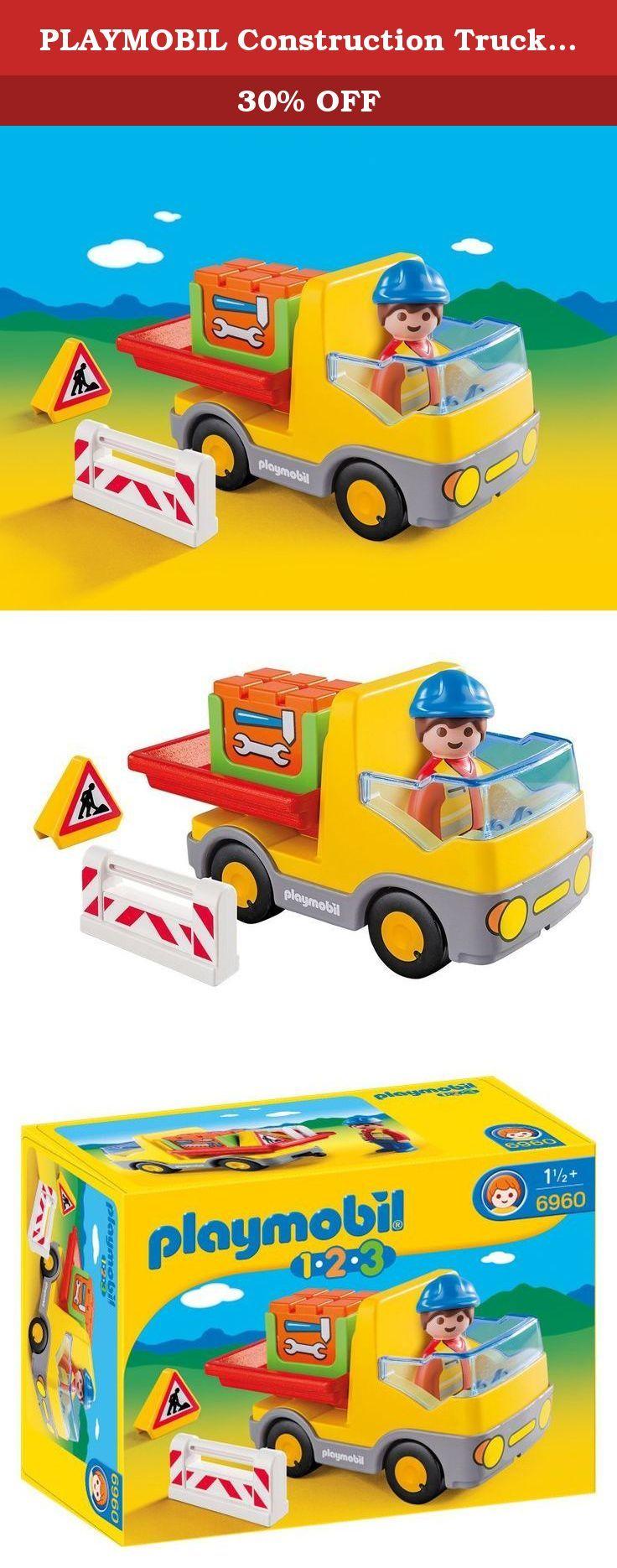 playmobil construction truck building kit beep beep the