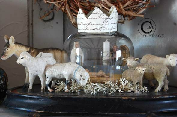 ♥ Christmas in Provence. I love this for next year. I'll be on the look out now for sheep and a donkey : )