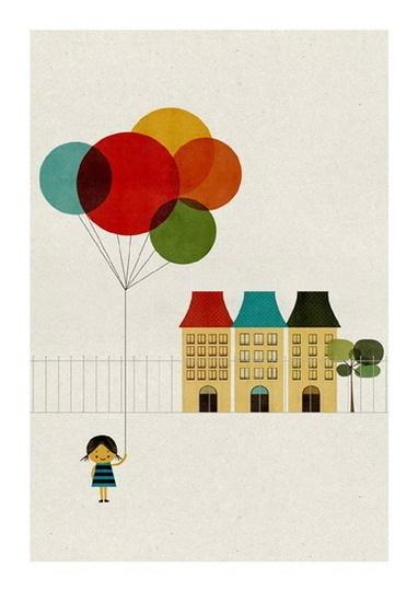 Girl with Balloons @etsy Sevenstar