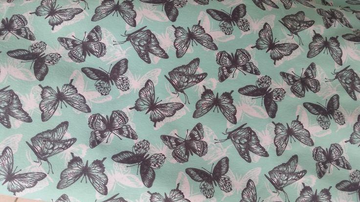 dresówka drukowana Motyle www.tkaninowyzakatek.pl