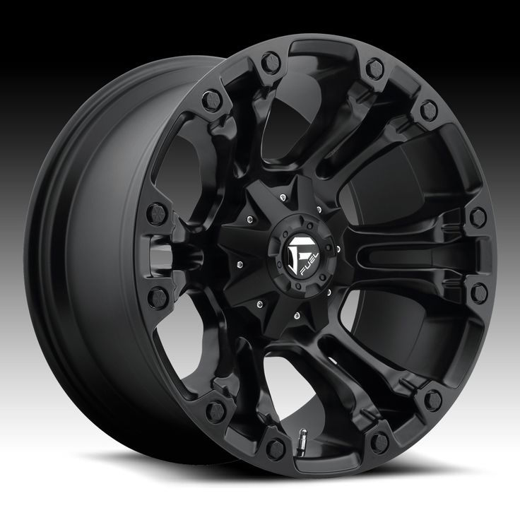 Fuel Vapor D560 Matte Black Custom Truck Wheels Rims