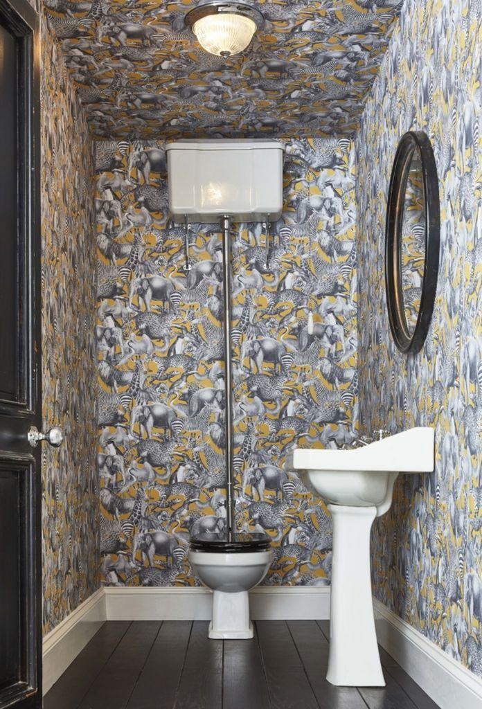 3 Best Wallpaper Bathroom Ideas Gray Wallpaper Bathroom Bathroom Wallpaper Small Toilet Room