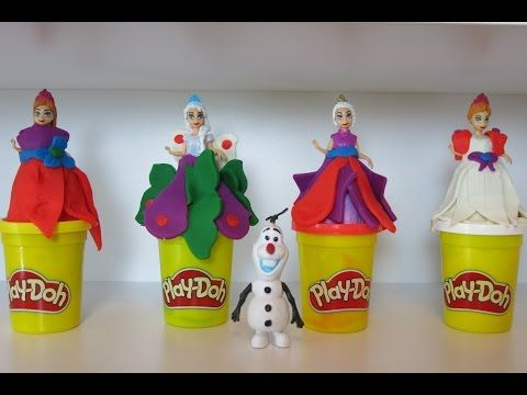 More FROZEN Play Doh Dress for Elza Anna and Olaf