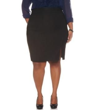 Savvy Fit Front Zipper Pencil Skirt
