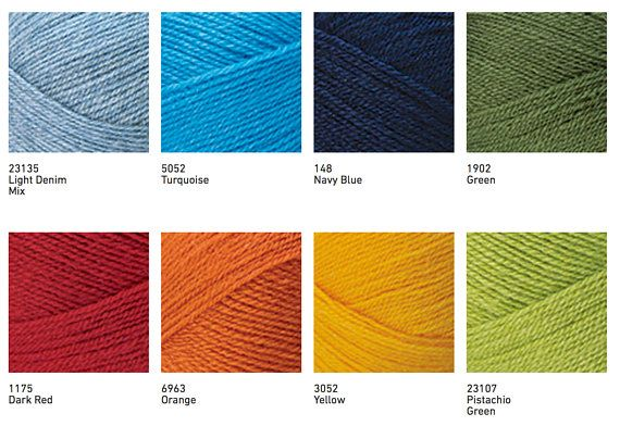 NAKO NAKOLEN 5 Blend acrylic wool color choice hand knit yarn