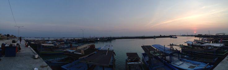 Sunrise at Tidung harbor, Jakarta