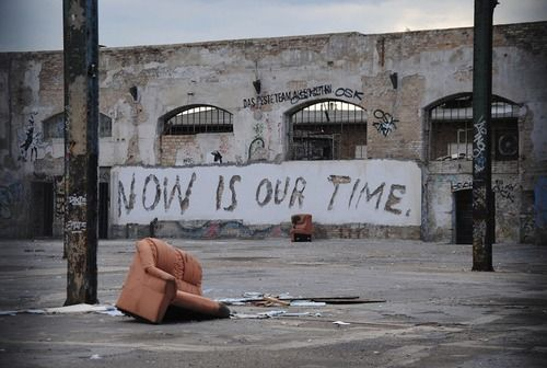 NOW IS OUR TIME.