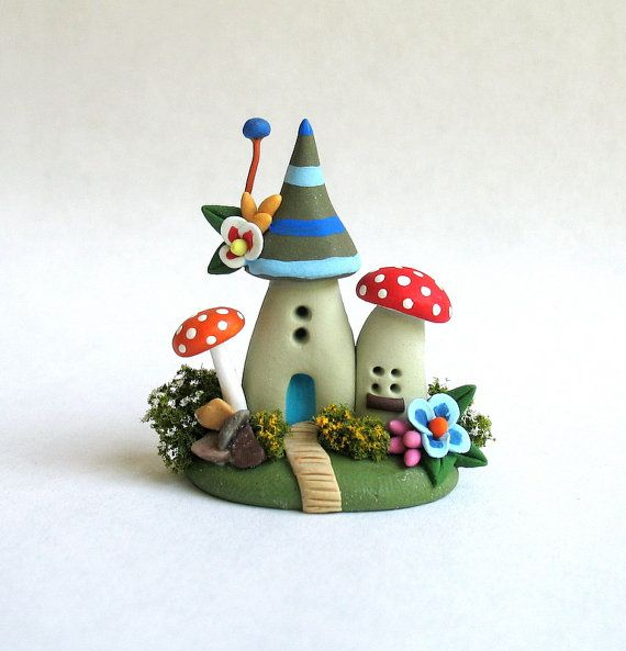 Miniature Fairy Blossom House Colony OOAK by door ArtisticSpirit