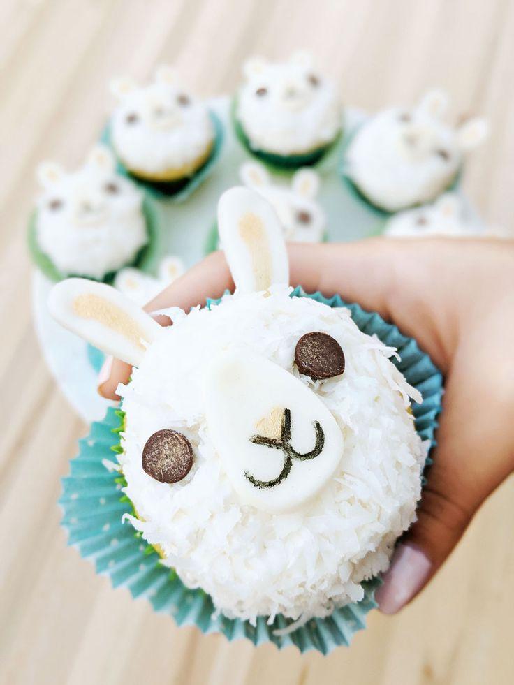 wie ein Hase, aber ein Lama! DIY Lama Cupcakes | SomethingSoSam   – Cupcakes