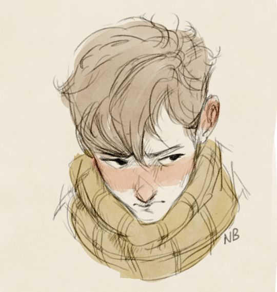 Boy with a scarf by Natello on DeviantArt: