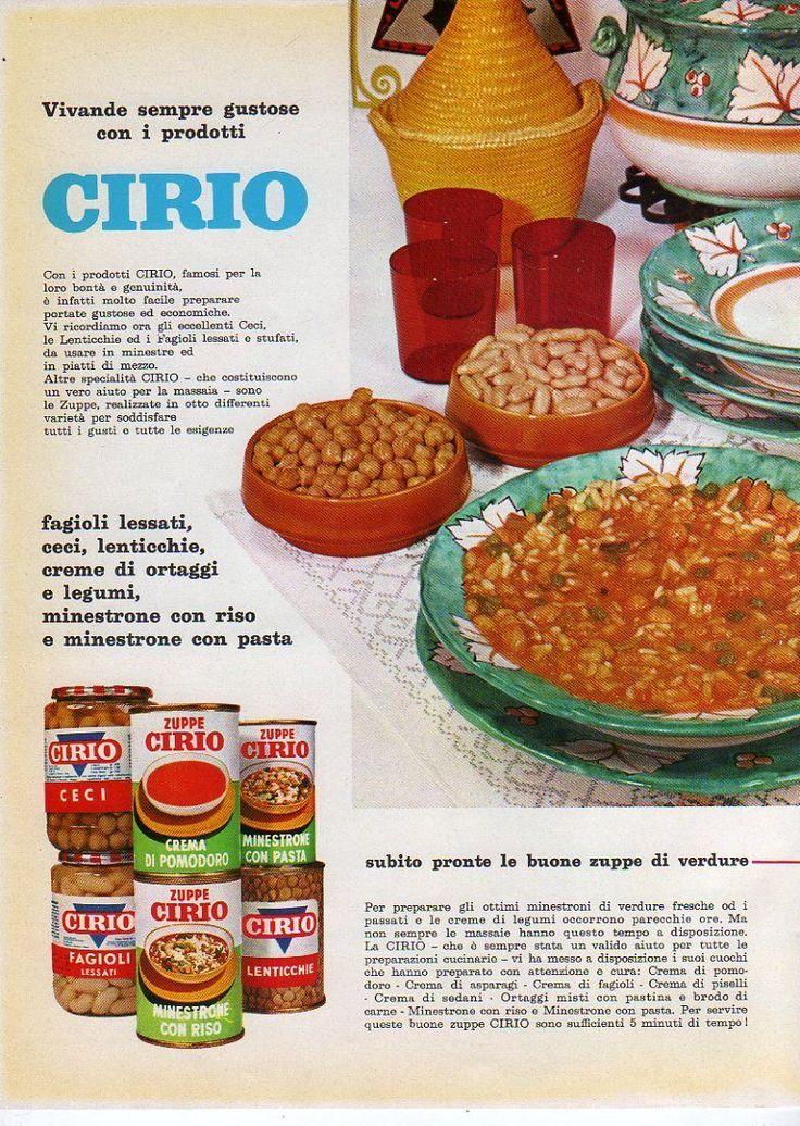 Pubblicità 1965 Prodotti Cirio