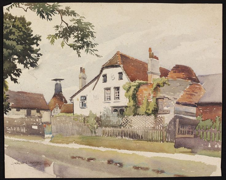 Kilns and Maltings on the Canal Bank, Bishop's Stortford; Recording Britain | Spradbery | V&A Search the Collections