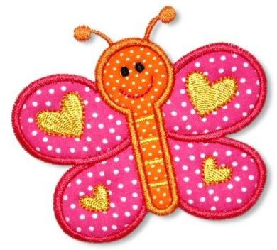 Spring BUTTERFLY Applique 4x4 5x7 6x10 Machine by LynniePinnie, $2.99
