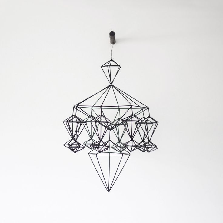himmeli no. 8 - hanging mobile - modern mobile - sculpture - geometric - black - finnish design - home decor